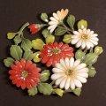 紅白の菊  和柄シリーズ