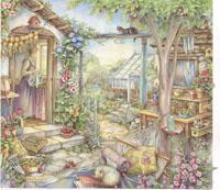 画像1: 小 キム・ジェイコブス カードキット プラムの中庭