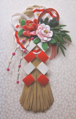 画像1: NEW! お正月飾り 牡丹 和柄シリーズ